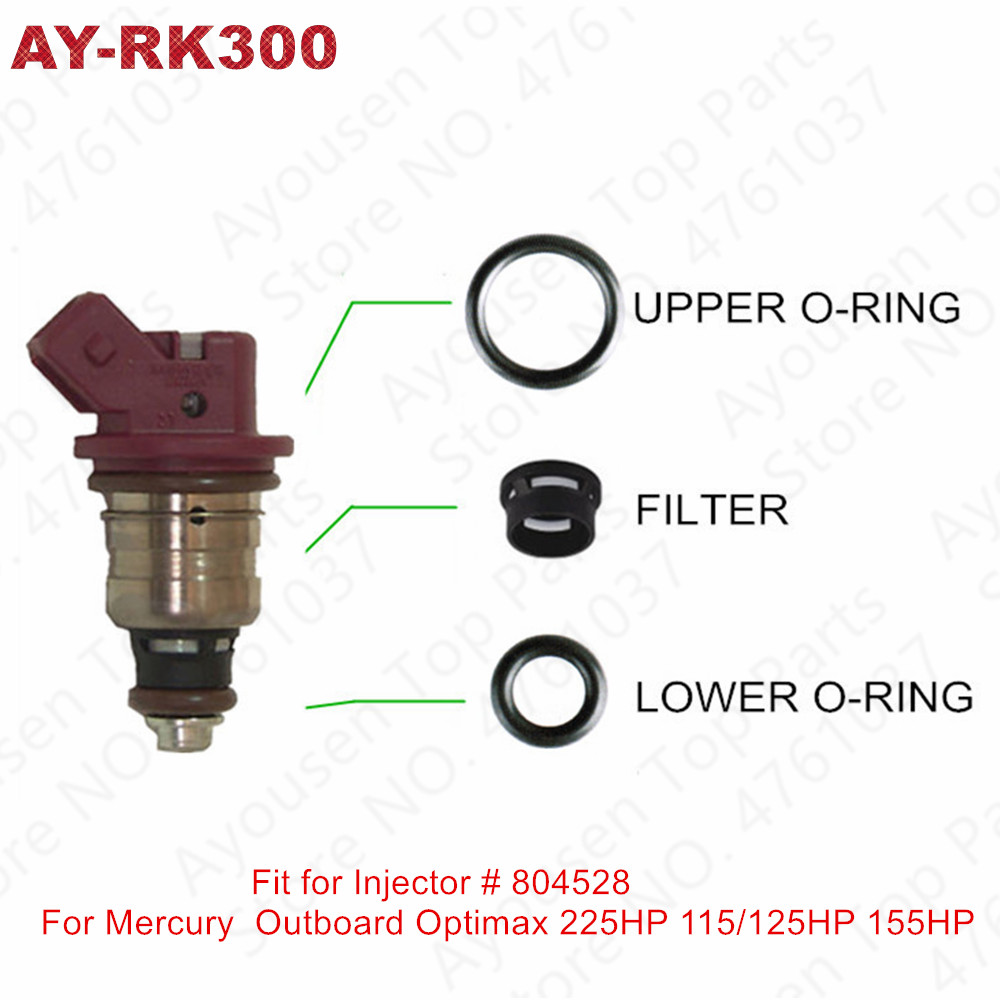 Fuel Injector Oring Kit 25335288 for 02-06 Mercury 40HP-60HP Outboard 2-Stroke