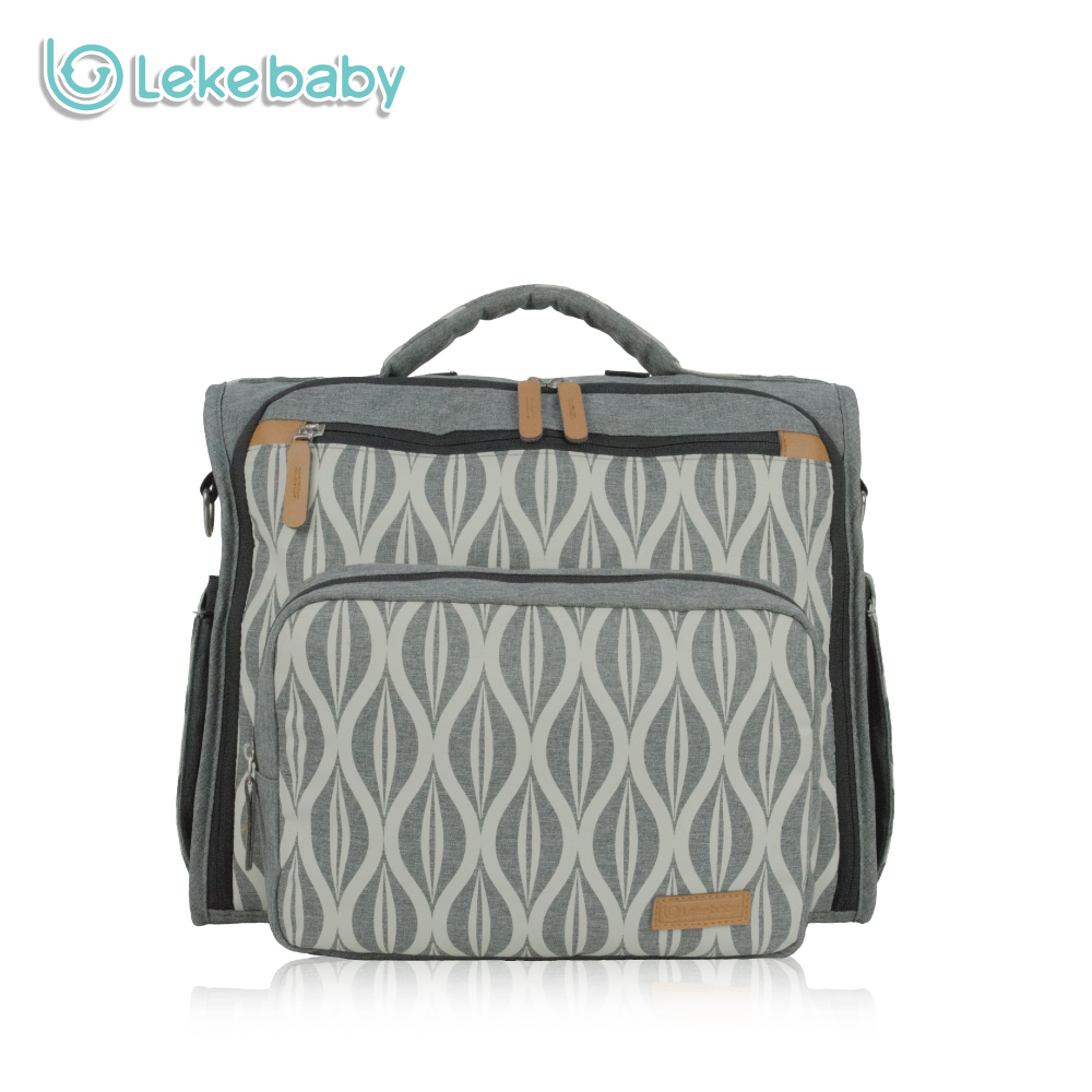 Lekebaby Fashion Convertible Diaper Bag Mummy  Maternity Nursing Backpack Baby Care Changing Nappy Messenger Bag for Stroller