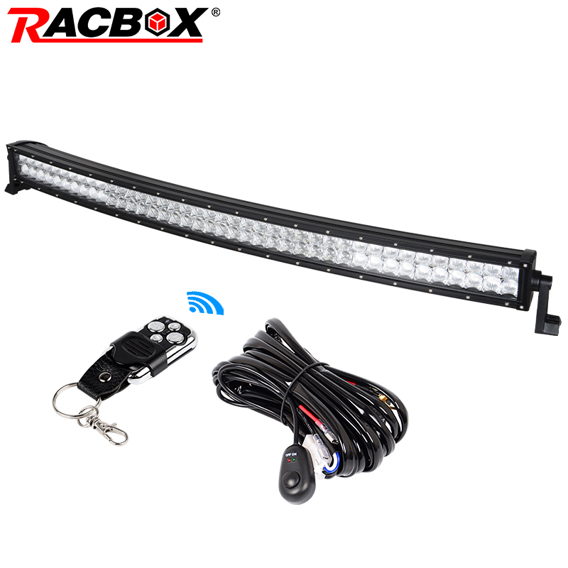 RACBOX 5D 42 inch Curved LED Work Light Bar 240W 12V 24V 6000K For Truck ATV SUV Boat Offroad 40 42 LED Working Bar Light Lamp weisiji 1pcs 17inch led light bar 100w offroad working light with high intensity cree chips 5d lens for jeep ford truck suv atv