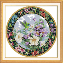 Needlework 14ct 11ct Cross stitch Sets For Embroidery Precise Printed Wreath. The sweet nectar Patterns Counted Cross-Stitching
