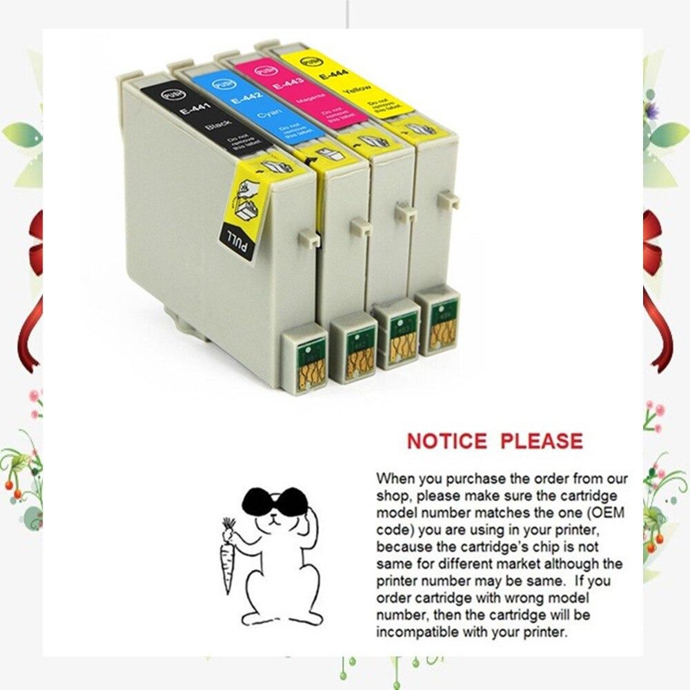 4 stücke kompatibel tintenpatrone für epson t0441-t0444 für epson stylus c64/c84/c84n/c84wn/cx6400
