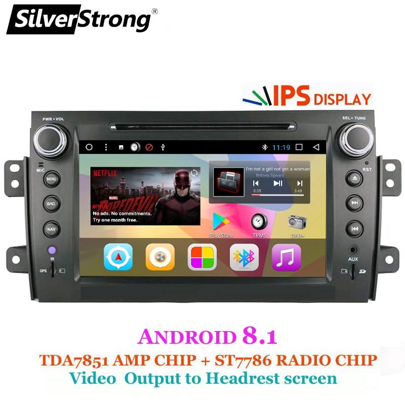 SilverStrong Android8.1 pour Suzuki SX4 IPS dvd de voiture radio gps 3G wifi navigation gps autoradio lecteur audio de voiture stéréo 2 din gps