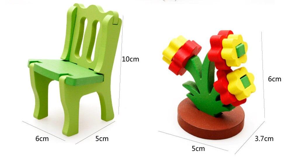 HIINST пены коврик Детские развивающие игрушки деревянные блоки 3D домашний стол стул комод челнока ap16m30