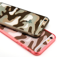 Luxury Transparent Camouflage Color Design Acrylic Mobile Phone Case For Apple Iphone5 5s SE 6 6s