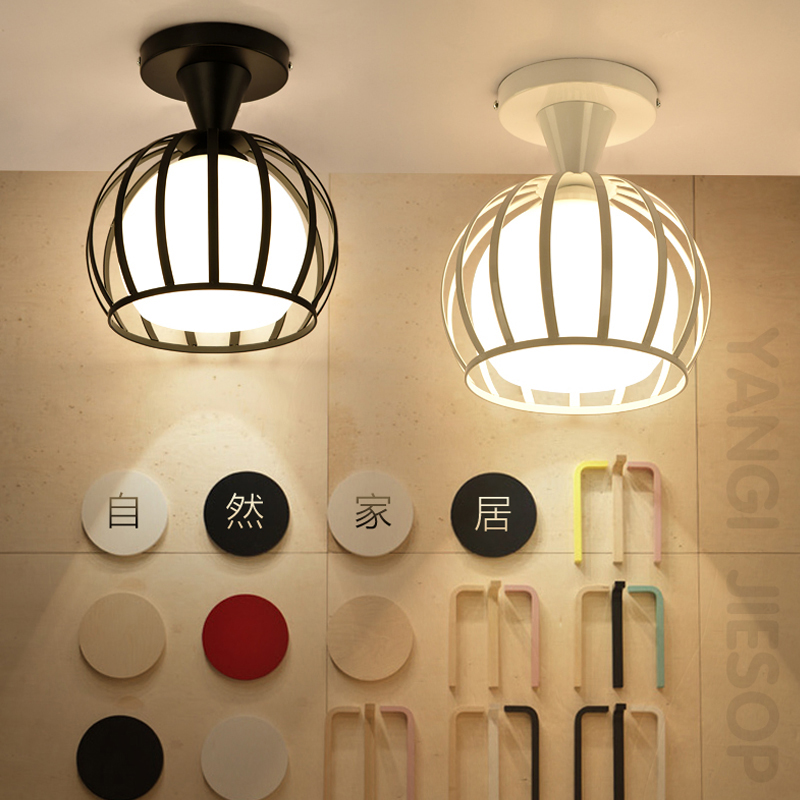 lamps Personalized Simple modern aisle corridor lights Nordic entrance balcony ceiling room hall creative home lighting lamp the personalized fashion simple cryst led corridor entrance hall aisle lights ceiling lamp room balcony lamp lights color sd128