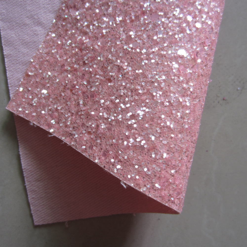 16pcs 21cmx30cm A4 Sheet Glitter Fabric Sheet Chunky Glitter Fabric Leather Fabric For Craft Christmas DIY Bow CN102