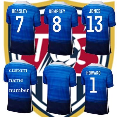 89f4264075e ... Free customer 2015 usa soccer jersey best quality football shirt usa  away blue DEMPSEY Yedlin ALTIDORE ...
