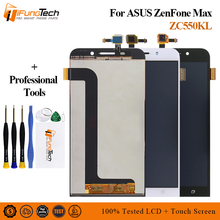 Free Ship 5.5'' IPS LCD Screen For ASUS Zenfone Max ZC550KL Z010DA LCD Display Touch Screen Digitizer With Frame Panel Assembly lcd screen display touch panel digitizer with frame for blackberry 9983 p9983 black free shipping