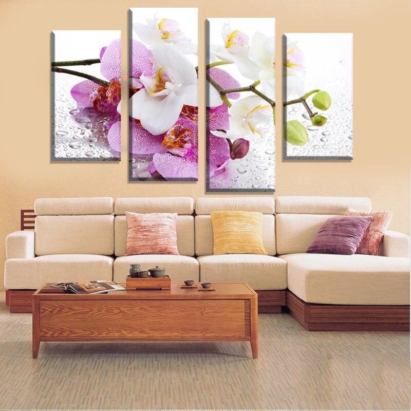 unids pera flor de pared pintura de la venta caliente mariposa de color rosa flores