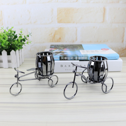 Home Decoration Accessories Wrought Iron Bicycle Pen Holder Creative Desktop Decoration Boutique Gift Decoration Small Gift Lahore