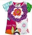Flor Francés Catimini Camiseta 2014 nuevo verano de los niños camisetas chica camisetas de manga corta al por menor