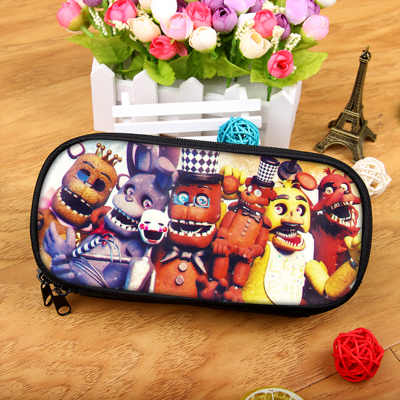 Five Nights at Freddy Foxy Gold Chica Boy Girl Cartoon Pencil Case Bag School Pouches Children Student Pen Bag Kids Purse Wallet стоимость