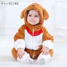 Brown Dog Kigurumi Baby Animal Costume Funny Cute Festival Jumpsuit Child Kid Warm Soft Bodysuit Christmas Party Cartoon Cosplay