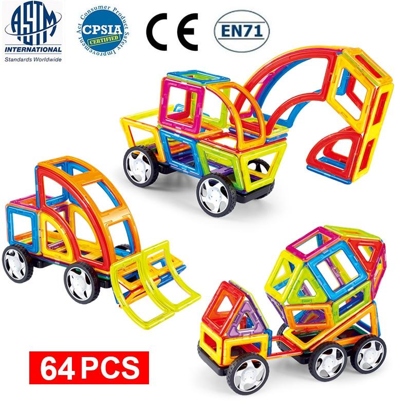Magnetic Building Blocks Educational Construction Toys Set Magnet Designer Magnetic Tiles Kit For Kids Big Size