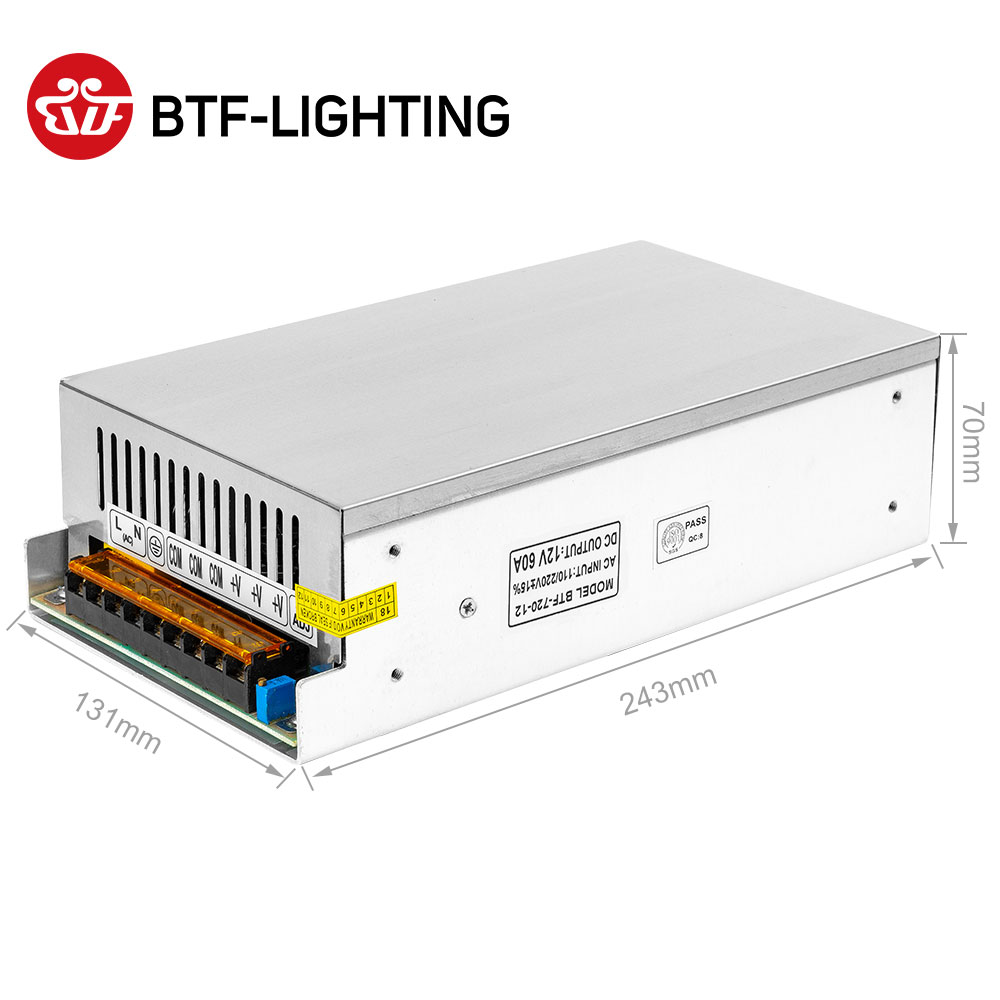 Image 4 - 12V Switch LED Power Supply Transformer 1A/3A/5A/6.5A/8.5A/10A/12.5A/15A/16.5A/20A/25A/30A/40A/50A/60A-in Lighting Transformers from Lights & Lighting