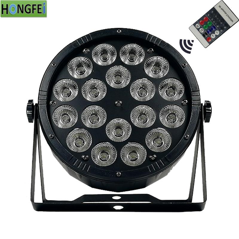 NEW 18X12W RGBW 4in1 Remote control led par lights dmx512control par led professional disco lighting equipment