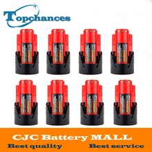 High Quality 8PCS 12V 2000mAh Li Ion Replacement Power Tool Battery for Milwaukee M12 C12 BX