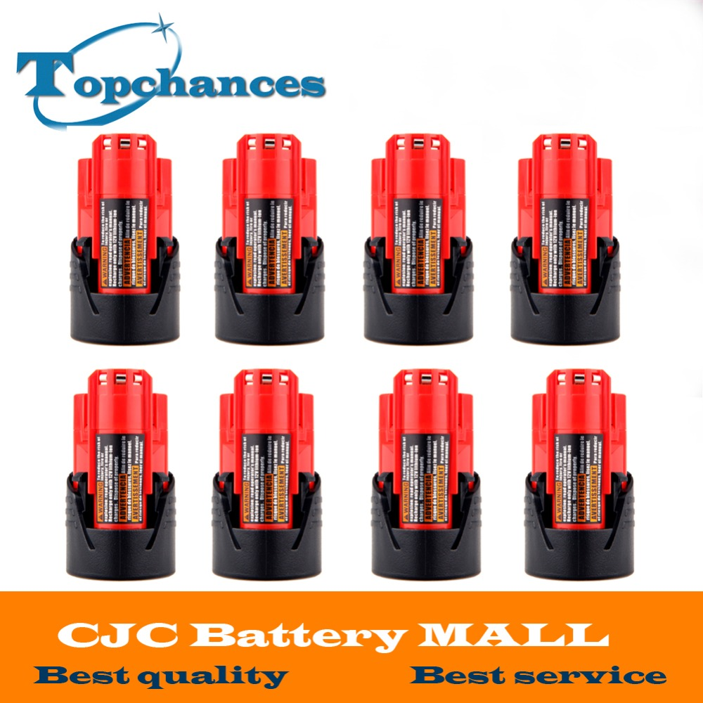 High Quality 8PCS 12V 2000mAh Li Ion Replacement font b Power b font font b Tool