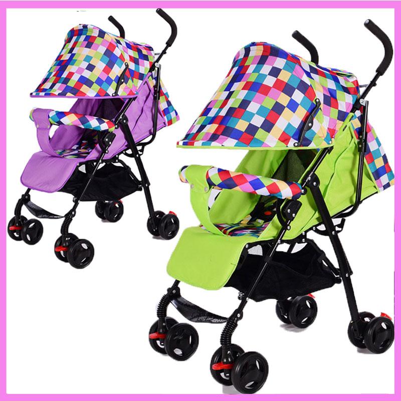 Flat Lying Umbrella Cart Baby Stroller Light Portable Four Wheels Cheap Baby Jogger Stroller Lightweight Travel System Stroller
