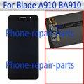 Preto 5.5 polegada display lcd completa + touch screen substituição assembleia digitador de vidro para zte blade a910 ba910 td-lte livre grátis
