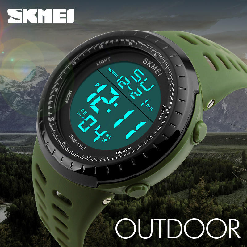 2019 <font><b>SKMEI</b></font> Fashion Brand Shock Resistant Watch Outdoor Men Military Watches Men's LED Digital Watch Casual Sports Wristwatches image