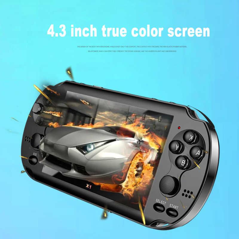 4.3 ''צבע מסך נייד משחק כף יד קונסולת משחקי 4GB זיכרון מובנה 300 משחקים עבור PSP משחק מצלמה וידאו ספר אלקטרוני עבור ילד