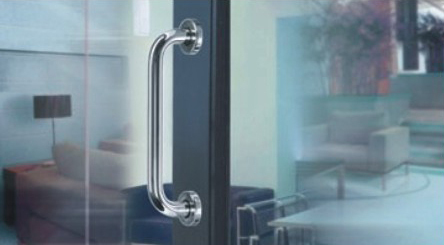 ФОТО Stainless steel 304 material tube door pull handle hole to hole size 200 mm for wood door KF199