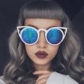 Feidu moda gafas de sol mujeres ronda cat eye sunglasses uv400 alta calidad gafas de sol feminino metal frame gafas de colores