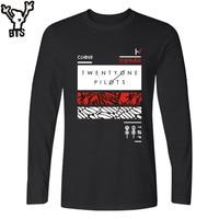BTS Twenty One Pilots T Shirt Men Hip Hop United States Rock Band Funny Tshirt Men