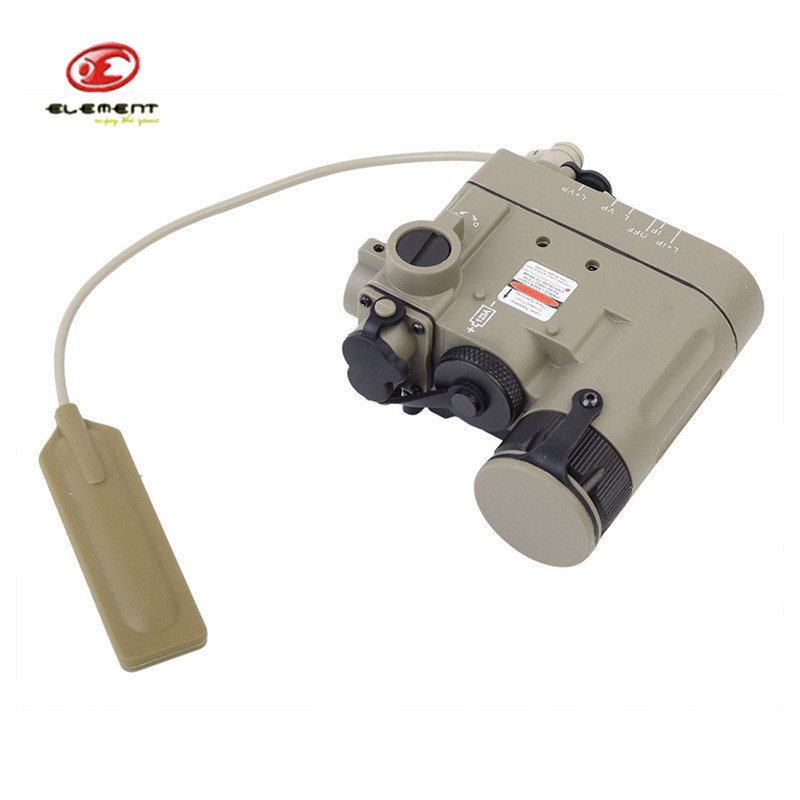 Element DBAL-D2 Battery Case Red Dot Laser with LED Flashlight IR Illuminator Gun 20mm Rails Remote Control Airsoft Hunting kd621k30 prx 300a1000v 2 element darlington module