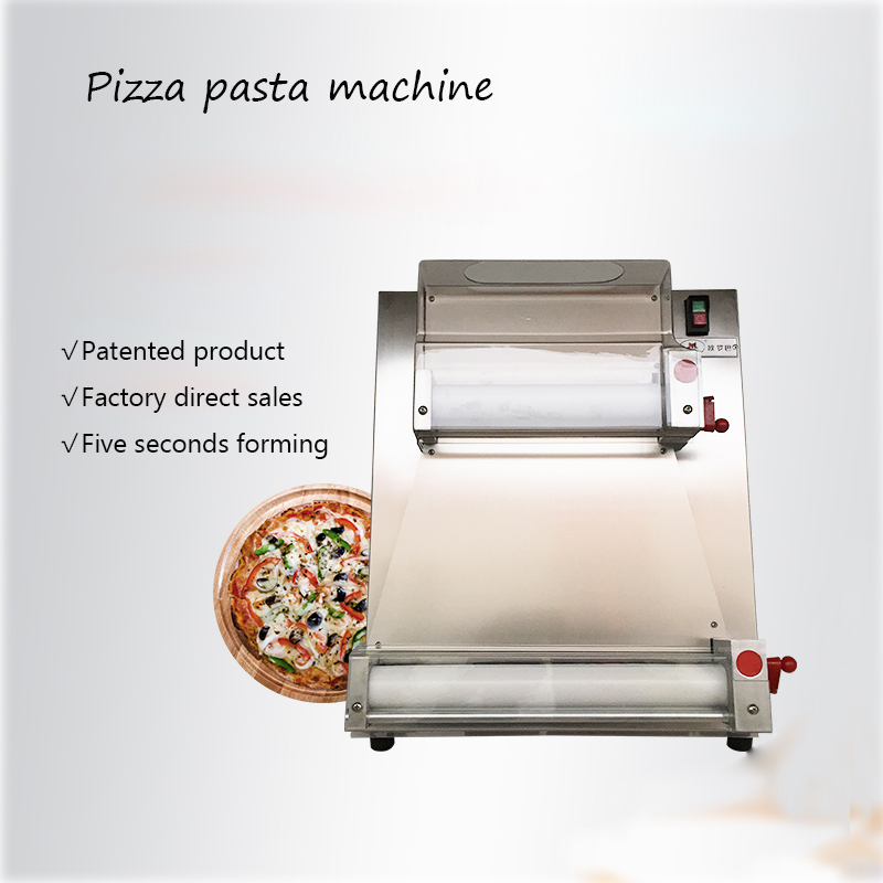 1pc Pizza Bottom Press Machine 220V 370W DR-1V Commercial Stainless Steel  3-15 inch Pizza Dough Machine Easy to operate 2 in 1 stainless steel pizza shovel pizza scissor red silver