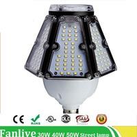 6PCS/LOT 30W 40W 50W corn bulb Lamp led street light E40 E27 base road lamp led corn Waterproof AC100V 277V Outdoor Lighting