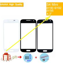 S4Mini TouchScreen For Samsung Galaxy S4 mini i9190 i9195 i9192 Touch Screen Front Panel Glass Lens Outer NO LCD Display(China)