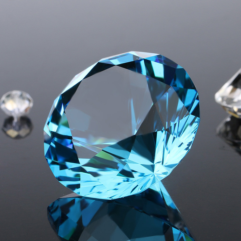 Diy talla aqua cristal 100mm diamond wedding party confetti gems culata para el