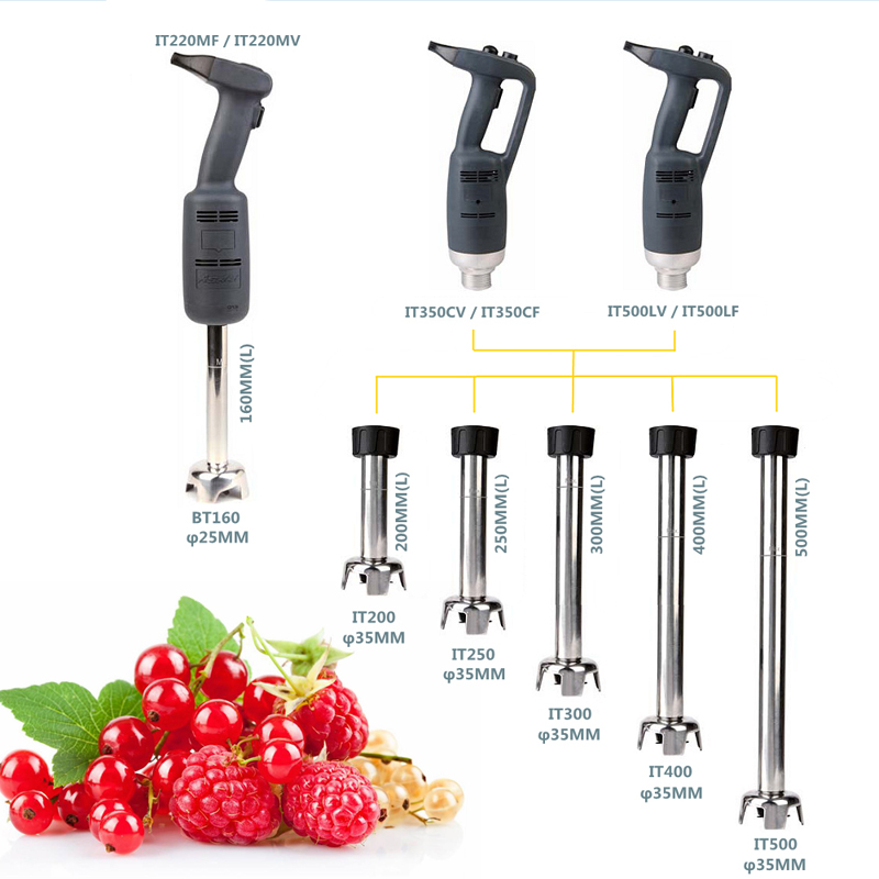 ITOP Merci Chef Commercial Blender IT500LF IT500LV 300mm Blending Arm Mixer Juicer 500W Electric Kitchen Handheld Food Processor in Blenders from Home Appliances