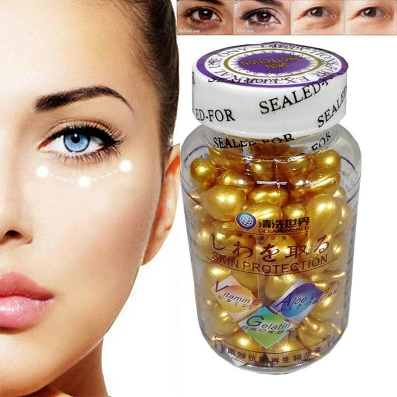 Vitamin E Capsules Face Serum Spot Acne Removing Whitening Collagen Serum VE Freckle Capsule