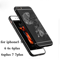 Silicone Cases For IPhone5 6 7 S Plus Ultra Thin Shockproof Anti Knock Rugged Carbon Fibre