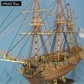 Kit Modelo de navio Para Adulto Escala 1:50 Modelos De Navios De Madeira Diy Jogos Educativos Crianças Modelos de Barcos De Madeira de Corte A Laser 3d Caroline