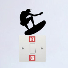 Surf Fashion Home Decoration Vinyl Wall Sticker Switch Decal 6SS0325