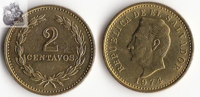 El Salvador 2 Centavos Coin 100% nyata dan Asli Amerika Utara dan Selatan Koin untuk Koleksi lama