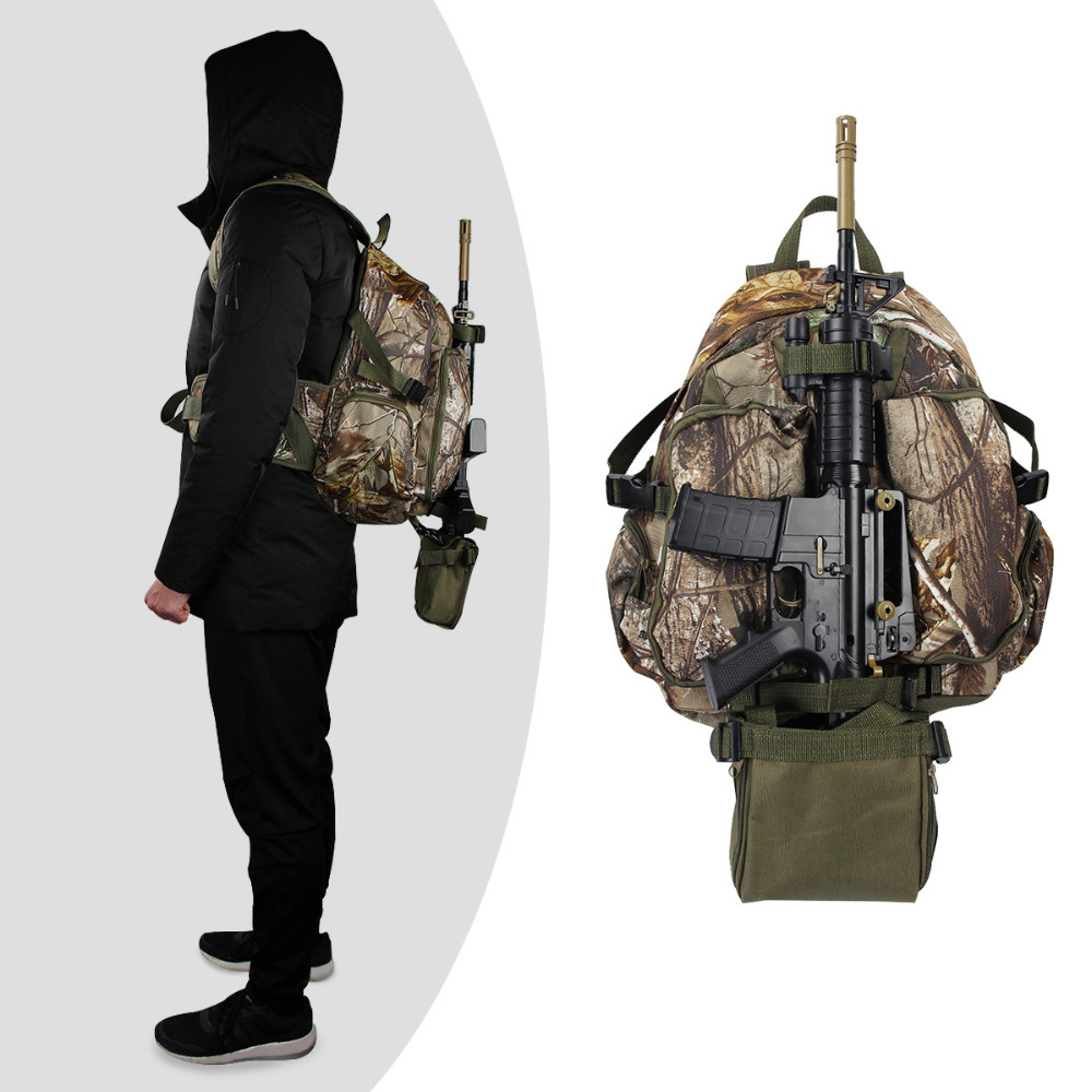 Men s Military Multi function Large Capacity Backpacks Waterproof Camouflage Hunting Bags With Hunting Gun Holder