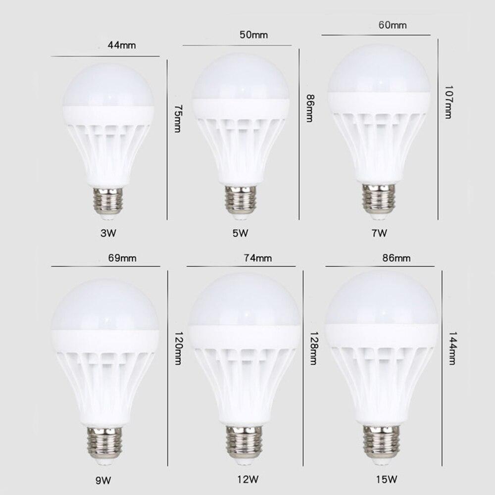 Купить с кэшбэком E27 220v led light lamp 3w 5w 7w 9w 12w 15w lampadas led bulb