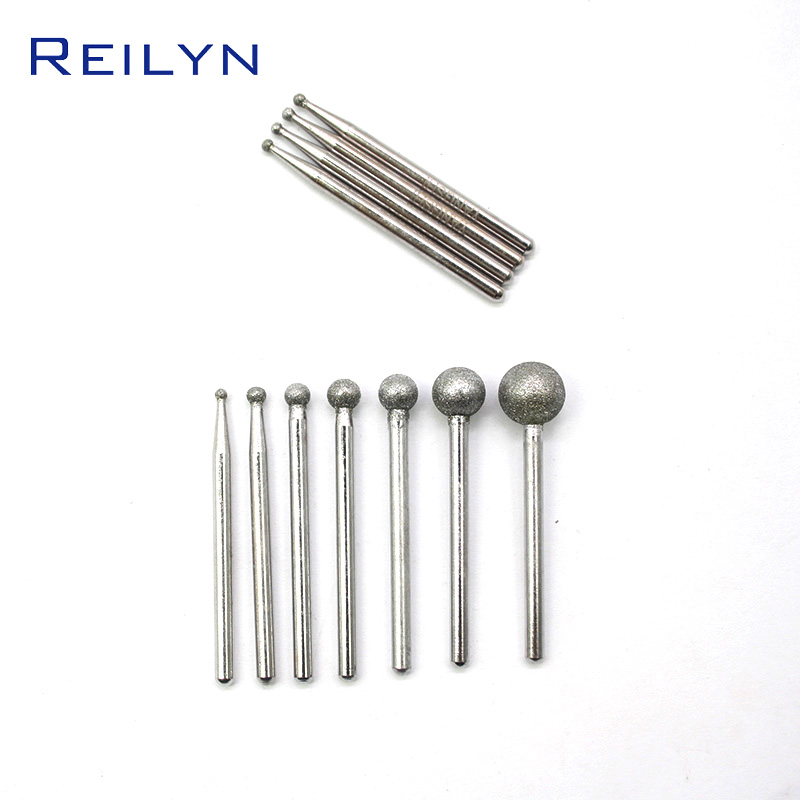 120# Fine Grit Emery Grinding Point Ball Sanding Bits 7pcs/Set Shank 3mm Point 1mm-8mm Suit Combination Durable Grinding Needle