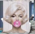 Marilyn Monroe Shower Curtain Waterproof Anchor Bathroom Curtain Polyester 3d Cortina Ducha with Hooks Curtains for Bath Room