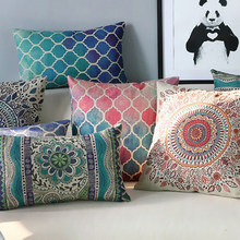 Hot Wholesale Fashion Trade Colorful Gradient Striped Linen Furnishing Car Decoration Cushion Cover Throw Pillow Case Funda Para