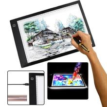 Best price Cewaal Third gear dimming A4DC LED Painting Thin Art Stencil Drawing Display Board Light Box Table 3 Gear Dimming Drawing Tablet