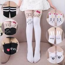 2f645a4df Bebê Bonito meias calças justas Crianças calças Na Altura Do Joelho Falso  Veludo Meia Branca gato. 12 Cores Disponíveis