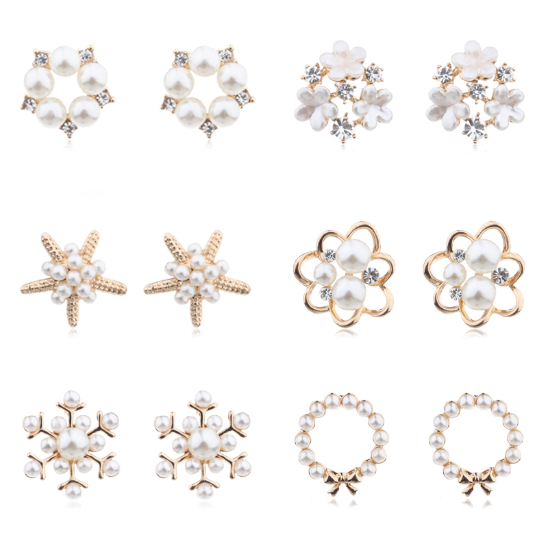 US $1.43 20% OFF|MENGJIQIAO 2019 Fashion New Style Simulated Pearl Flower Stud Earrings For Women Sweet Bijoux Cute Heart Starfish Oorbellen Gift-in Stud Earrings from Jewelry & Accessories on Aliexpress.com | Alibaba Group