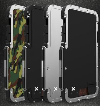 Funda de acero inoxidable para iPhone 11 Pro XS Max XR X iPhone 8 7 6 6S Plus SE 2020
