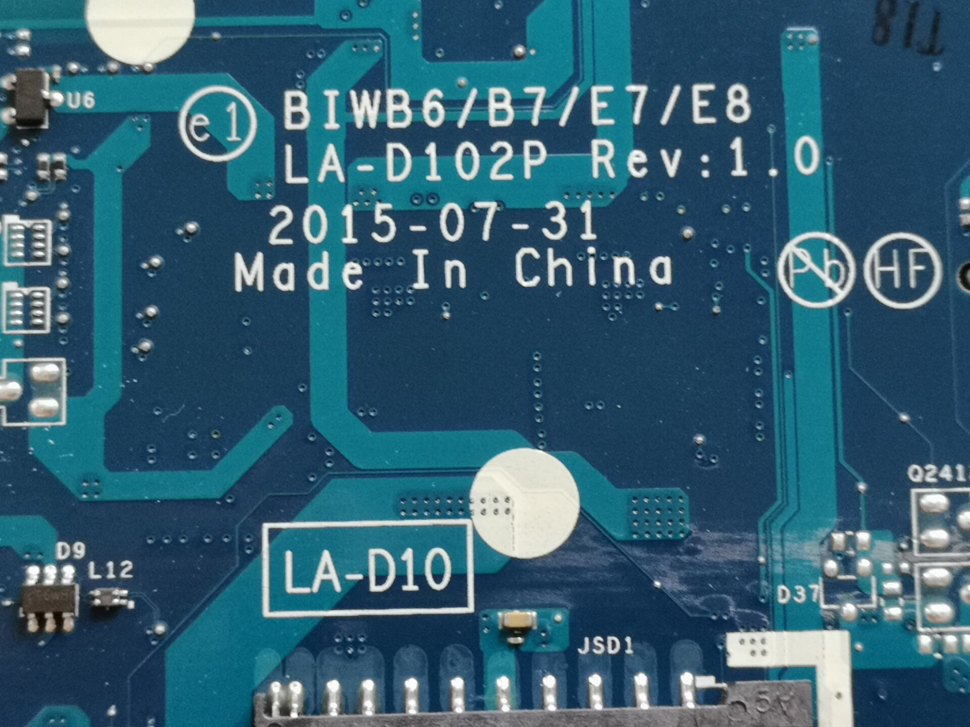 Tested For Lenovo B51 80 B51-80 BIWB6 B7 E7 E8 LA-D102P Notebook Motherboard 4405U